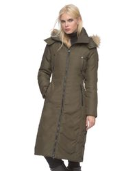 Andrew Marc - Green Olympia Fur-Trimmed Down Coat - Lyst