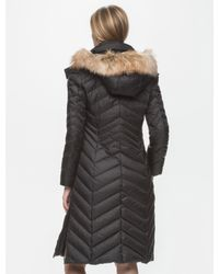 Marc New York | Black Real Fur Trim Down Coat | Lyst