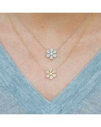 Anne Sisteron - Metallic 14kt Yellow Gold Diamond Daisy Flower Necklace - Lyst