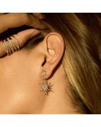 Anne Sisteron - Metallic 14kt Yellow Gold Diamond Bright Star Astraea Earrings - Lyst