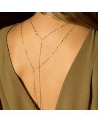 Anne Sisteron - 14kt Solid White Gold Melanie Lariat - Lyst