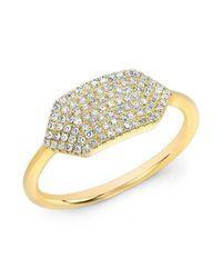 Anne Sisteron - Metallic 14kt Yellow Gold Diamond Buckle Ring - Lyst