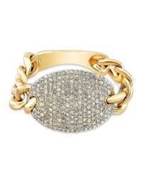 Anne Sisteron - Metallic 14kt Yellow Gold Diamond Bean Ring - Lyst