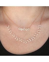 Anne Sisteron | Metallic 14kt Rose Gold Diamond Slice Row Necklace | Lyst