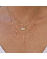 Anne Sisteron - Pink 14kt Rose Gold Diamond Chevron Crown Necklace - Lyst
