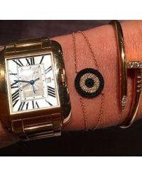 Anne Sisteron - Metallic 14kt White Gold Diamond And Black Diamond Evil Eye Disc Bracelet - Lyst