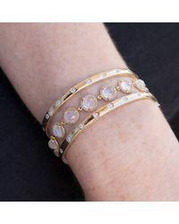 Anne Sisteron - Metallic 14kt Rose Gold Rainbow Moonstone Bracelet - Lyst