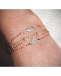 Anne Sisteron - 14kt White Gold Diamond Mini Id Chain Bracelet - Lyst