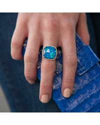 Anne Sisteron - Blue 14kt Rose Gold Opal Diamond Cocktail Ring - Lyst