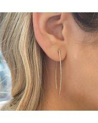 Anne Sisteron - Metallic 14kt Rose Gold Diamond Wishbone Earrings - Lyst