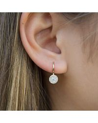 Anne Sisteron - Metallic 14kt Yellow Gold Diamond Elegante Disc Wireback Earrings - Lyst