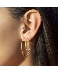 """Anne Sisteron - Metallic 14kt Yellow Gold Diamond 1 1/2"""" Hoop Earrings - Lyst"""