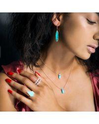 Anne Sisteron - Multicolor 14kt White Gold Diamond Turquoise Savannah Necklace - Lyst
