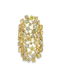 Anne Sisteron - Metallic 14kt Yellow Gold Colored Diamond Stella Ring - Lyst