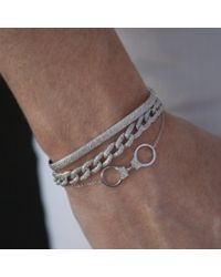Anne Sisteron - Metallic 14kt Yellow Gold Diamond Handcuff Chain Bracelet - Lyst