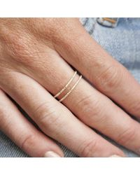 Anne Sisteron - Multicolor 14kt White Gold Diamond Double Bar Ring - Lyst