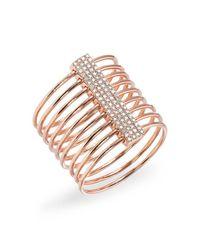 Anne Sisteron | Pink 14kt Rose Gold Diamond Slink Ring | Lyst