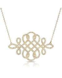 Anne Sisteron | Metallic 14kt Yellow Gold Diamond Woven Lace Necklace | Lyst