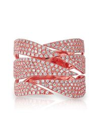 Anne Sisteron | Red 14kt Rose Gold Diamond Flame Ring | Lyst