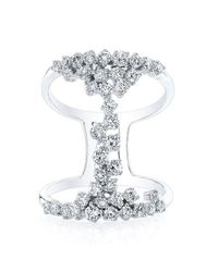 Anne Sisteron   Multicolor 14kt White Gold Diamond Lace Ring   Lyst