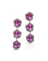 Anne Sisteron - Multicolor 14kt Yellow Gold Ruby And Pink Sapphire Diamond Earrings - Lyst
