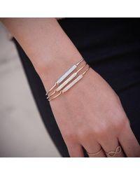 Anne Sisteron - Metallic 14kt Rose Gold Diamond Crochet Latch Bracelet - Lyst
