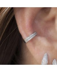 Anne Sisteron - Metallic 14kt White Gold Diamond Chloe Ear Cuff - Lyst