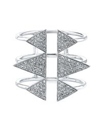 Anne Sisteron | Metallic 14kt White Gold Diamond Triple Spike Ring | Lyst