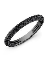 Anne Sisteron | Metallic 14kt Oxidized White Gold Black Diamond Ring | Lyst