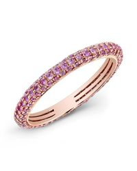 Anne Sisteron | 14kt Rose Gold Pink Sapphire Ring | Lyst