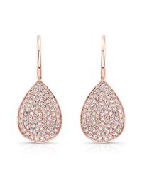 Anne Sisteron | Multicolor 14kt Rose Gold Diamond Small Pear Shaped Earrings | Lyst