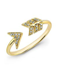Anne Sisteron   Metallic 14kt Yellow Gold Diamond Arrow Ring   Lyst