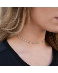 Anne Sisteron - Metallic 14kt Yellow Gold Diamond Leash Collection Choker Necklace - Lyst