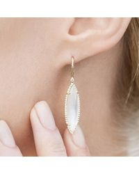 Anne Sisteron - Metallic 14kt Rose Gold Diamond Mother Of Pearl Small Celeste Marquis Earrings - Lyst