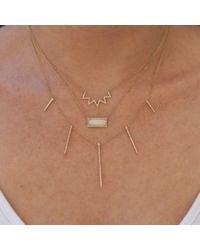Anne Sisteron - Metallic 14kt Yellow Gold Diamond Chevron Crown Necklace - Lyst