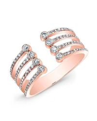 Anne Sisteron - Metallic 14kt Rose Gold Diamond Electric Ring - Lyst