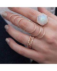 Anne Sisteron - Multicolor 14kt Rose Gold Bezel Set Diamond Ring - Lyst