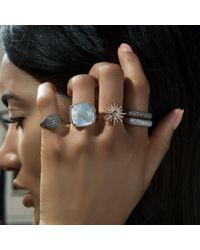 Anne Sisteron - Multicolor 14kt White Gold Diamond Sunburst Ring - Lyst