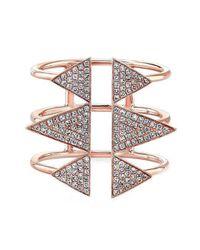 Anne Sisteron - Metallic 14kt Rose Gold Diamond Triple Spike Ring - Lyst