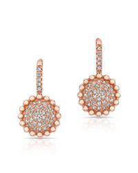 Anne Sisteron - Multicolor 14kt Rose Gold Diamond Scalloped Wireback Earrings - Lyst