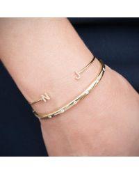 Anne Sisteron | Multicolor 14kt White Gold Diamond Initial Cuff | Lyst