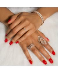 Anne Sisteron - 14kt White Gold Diamond Open Sally Ring - Lyst