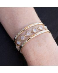 Anne Sisteron - Multicolor 14kt White Gold Rainbow Moonstone Bracelet - Lyst
