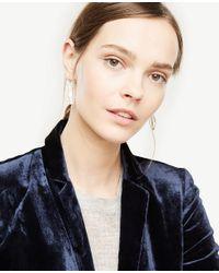 Ann Taylor - White Pave Bezel Drop Earrings - Lyst