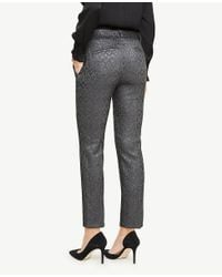 Ann Taylor Gray The Ankle Pant In Shimmer Jacquard - Devin Fit