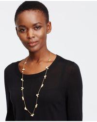 Ann Taylor - Metallic Modern Classic Beaded Necklace - Lyst