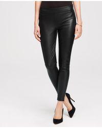 Ann Taylor - Black Petite Faux Leather Leggings - Lyst