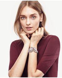 Ann Taylor - Multicolor Floral Stretch Bracelet - Lyst