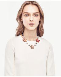 Ann Taylor | Multicolor Enamel Floral Necklace | Lyst