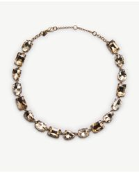 Ann Taylor | Multicolor Mixed Crystal Necklace | Lyst